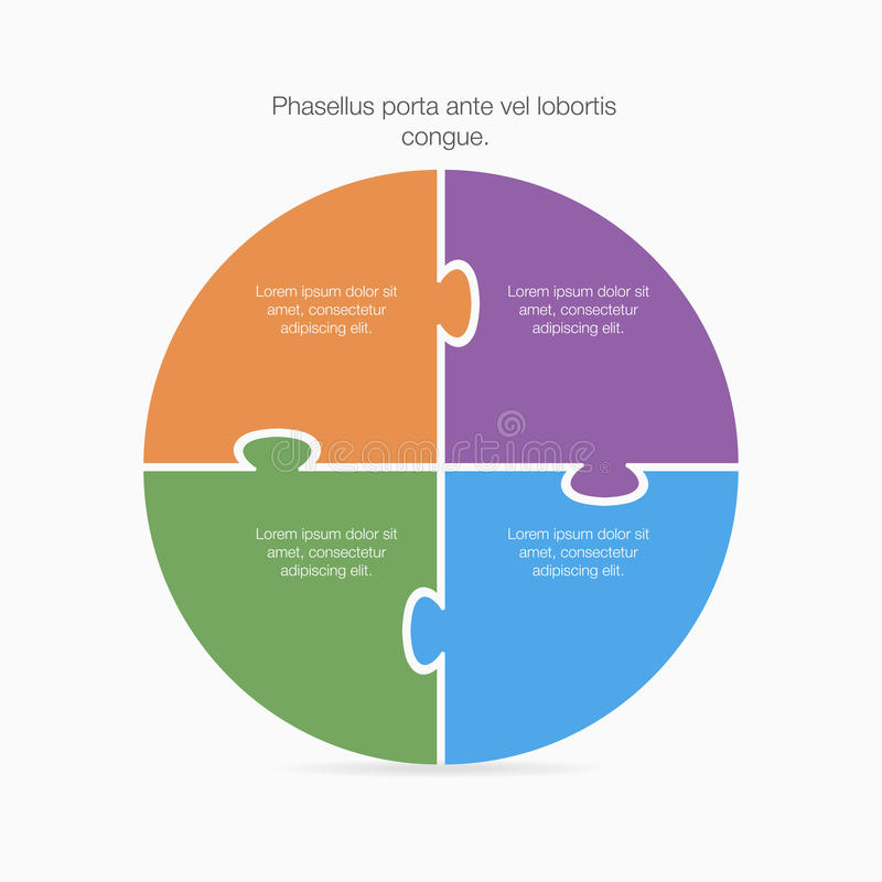 Kreisdiagramm für infographic lizenzfreie abbildung