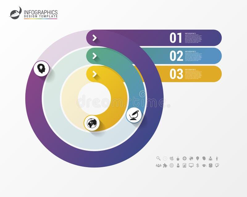 Kreisdiagramm-Kreis-Diagramm Moderne Infographics-Design-Schablone lizenzfreie abbildung