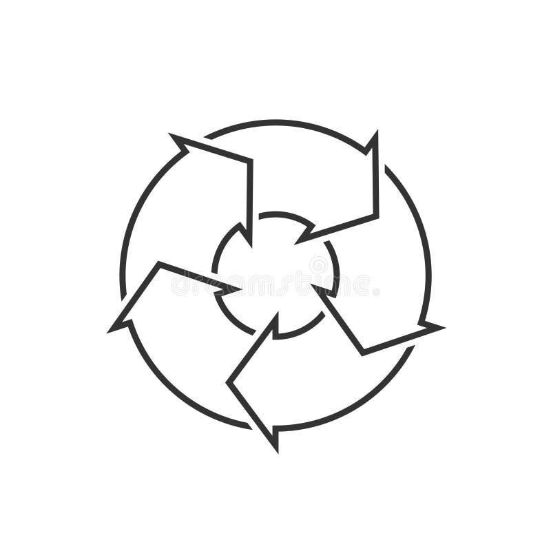 Kreisdiagramm mit 5 Schritten stock abbildung