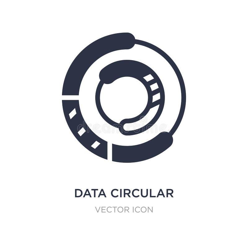 Kreisdiagrammikone der Daten auf weißem Hintergrund Einfache Elementillustration vom Geschäfts- und Finanzkonzept stock abbildung