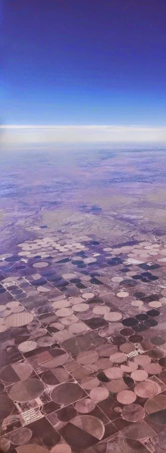 Kreise auf der Landschaft stockbild