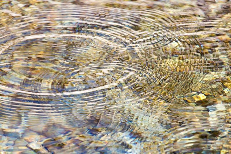Kreise auf der Wasseroberfläche lizenzfreie stockfotos