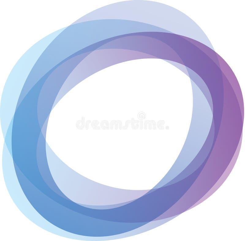 Kreise in den Farbtönen von Blauem und von Purpurrotem vektor abbildung