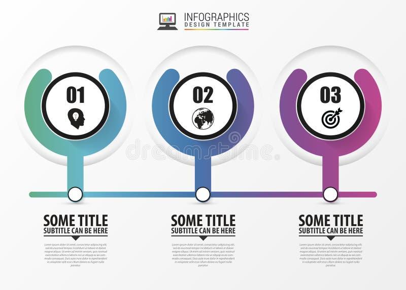 Kreise für die Zeitachse infographic Moderne vektorauslegungschablone Vektor stock abbildung