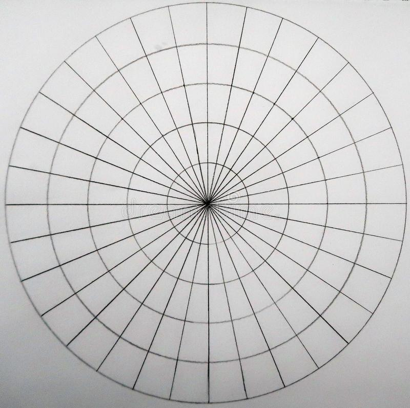 Kreise gemacht von den Kreisen und von den ligns stockbilder