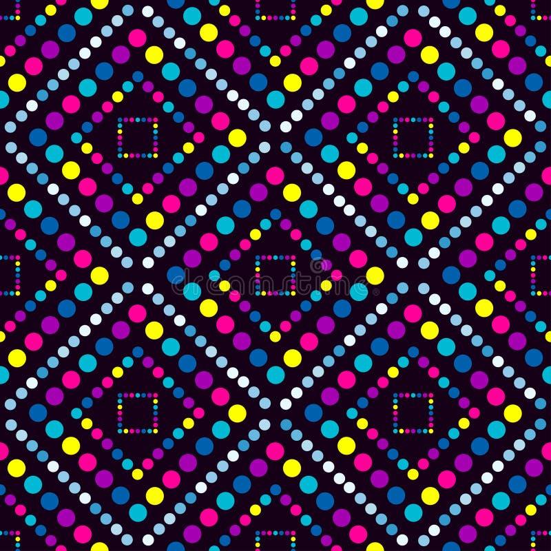 Kreise groß und kleines geometrisches nahtloses Muster lizenzfreie abbildung