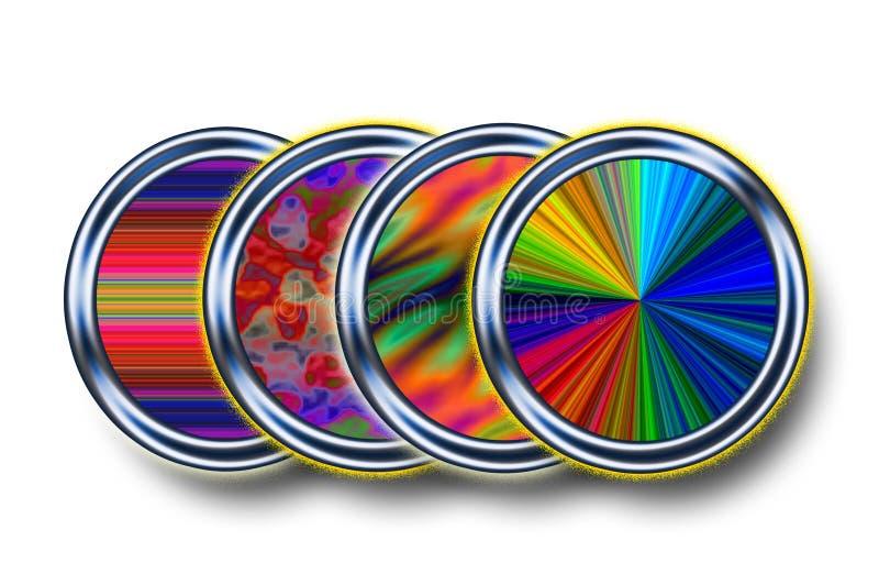 Kreise von Farben und von Beschaffenheiten stockbilder