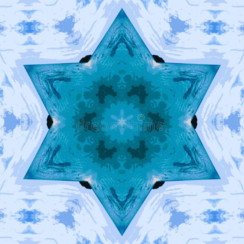 Kreisen Sie kaleidoskopischen synthetischen Kunsthintergrund, komplexe Geometrie ein stockfotografie