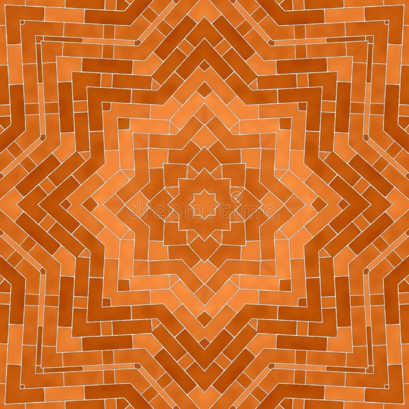 Kreisen Sie kaleidoskopischen synthetischen Kunsthintergrund, komplexe Geometrie ein lizenzfreie stockbilder