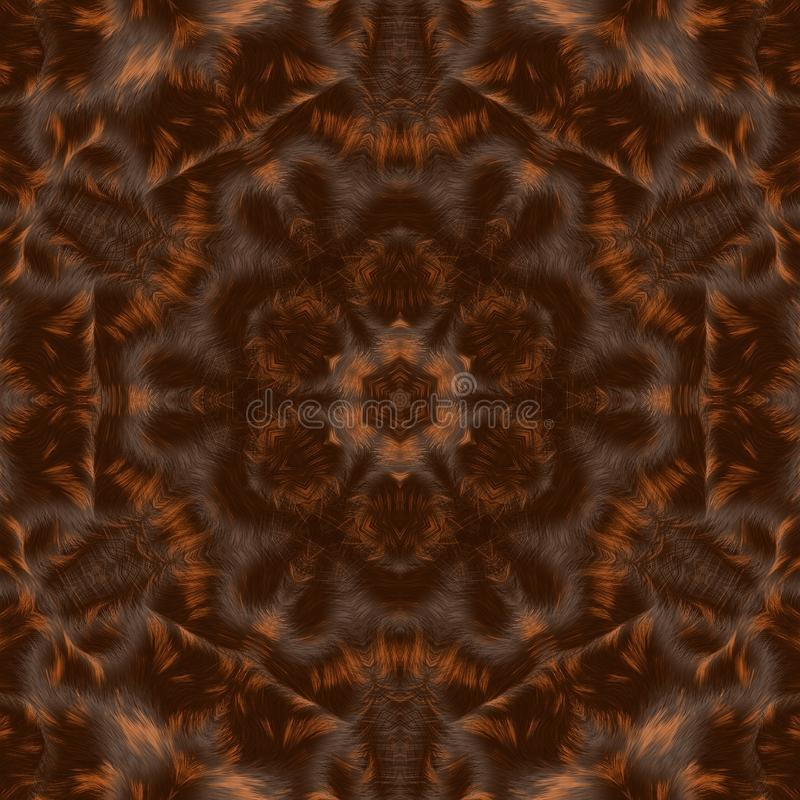 Kreisen Sie kaleidoskopischen synthetischen Kunsthintergrund, komplexe Geometrie ein stockfotos