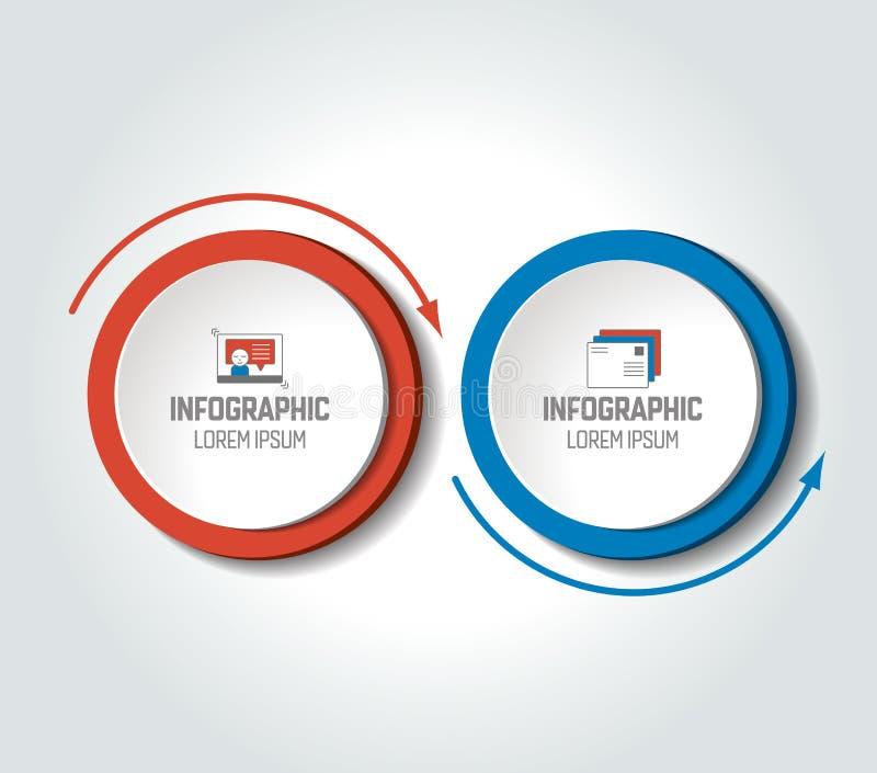 Kreisen Sie, rundes Diagramm, Entwurf, die Zeitachse ein, infographic, nummeriert Schablone, Wahlschablone lizenzfreie abbildung