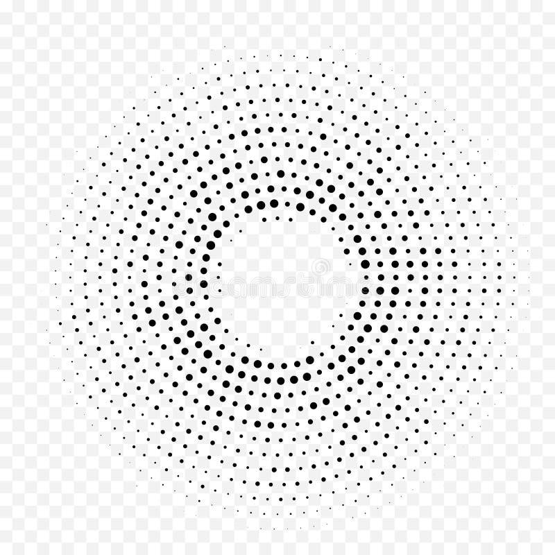 Kreisen Sie Steigungs-Beschaffenheitshintergrund Punktdes halbtonkreismustervektors weißen minimalen ein lizenzfreie abbildung