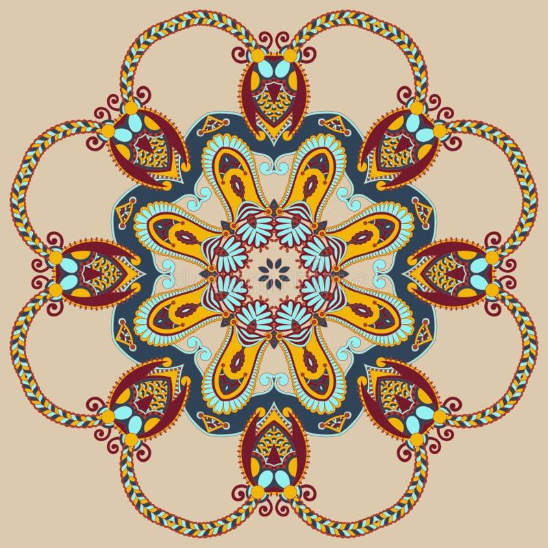 Kreisen Sie Verzierung, dekorative runde Spitze ein vektor abbildung