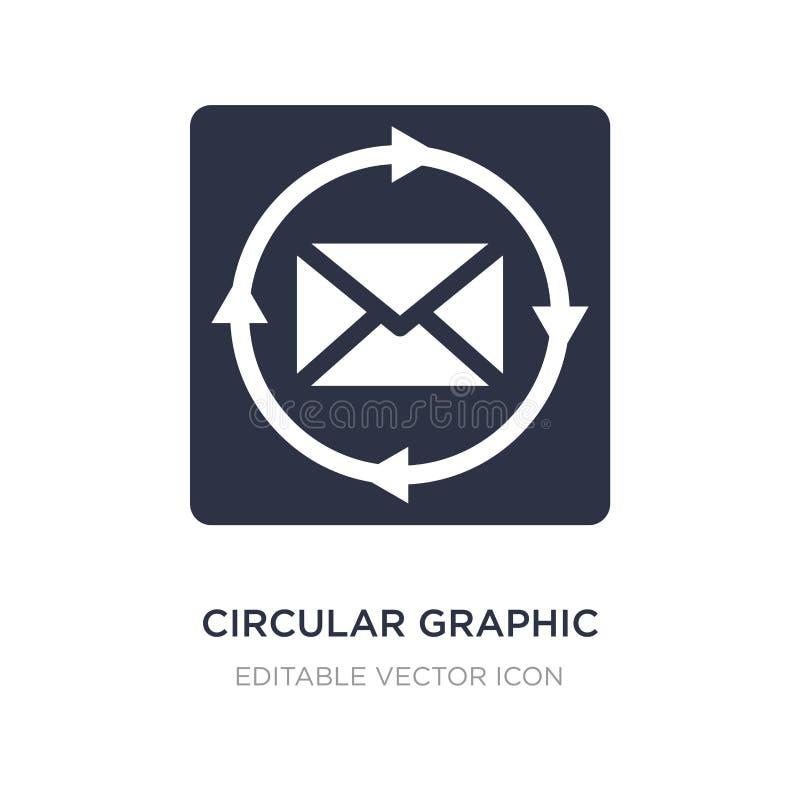 kreisförmige grafische Ikone auf weißem Hintergrund Einfache Elementillustration vom Netzkonzept stock abbildung