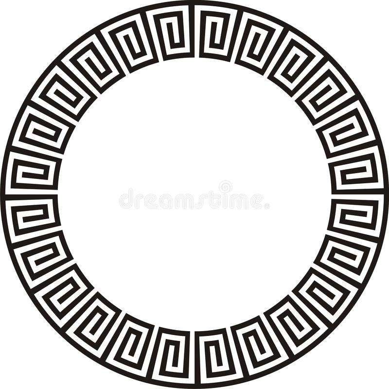 Kreisförmige aztekische Auslegung stock abbildung