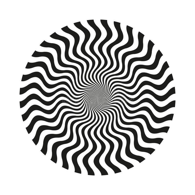 Kreisförmige gewellte Linie Muster der Zusammenfassung vektor abbildung