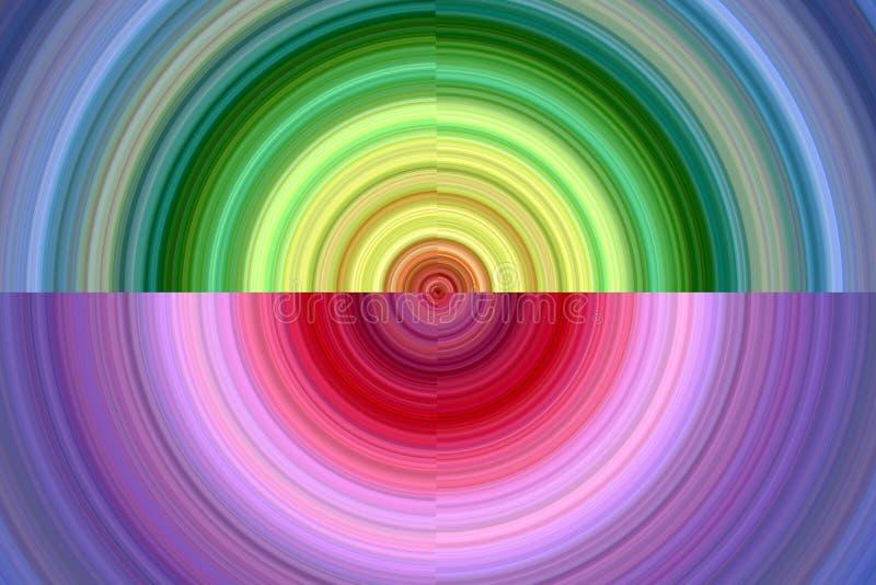 Kreisförmige spielerische Formen, abstrakter Hintergrund lizenzfreie abbildung