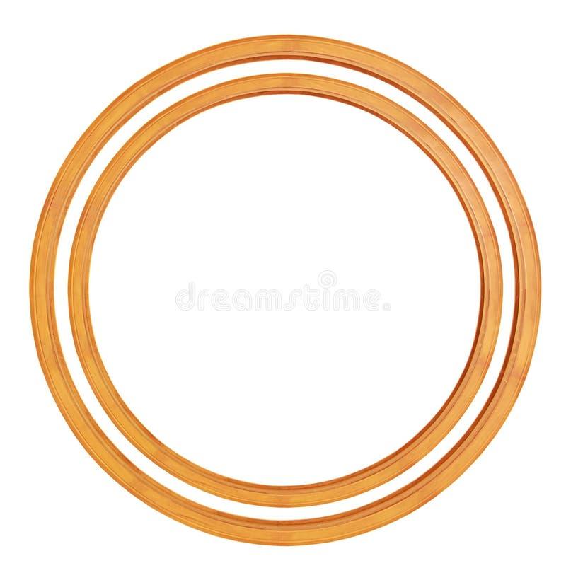 Kreisförmiger Holzrahmen stockfotos
