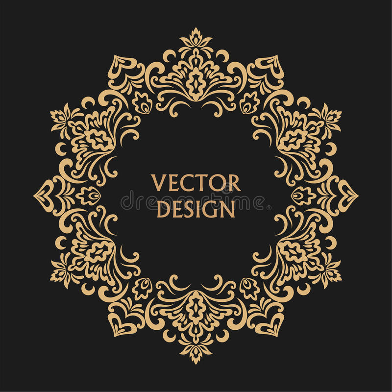 Kreisförmiges barockes Muster vektor abbildung