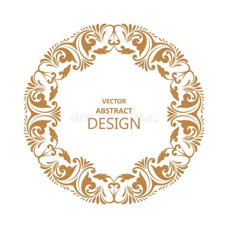 Kreisförmiges barockes Muster stock abbildung
