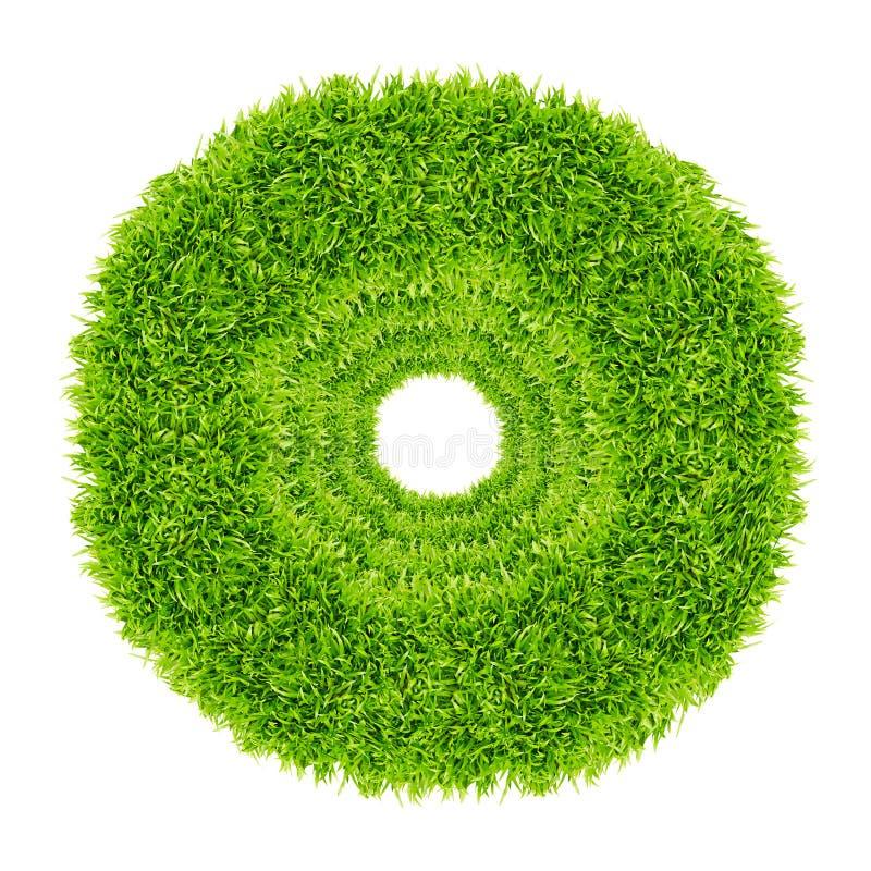 Kreisfeld des grünen Grases getrennt lizenzfreie stockbilder