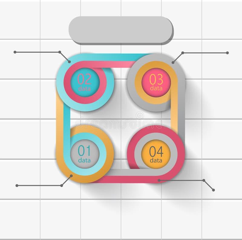 Kreisgestaltungselement infographic, Darstellungsschablone lizenzfreie abbildung