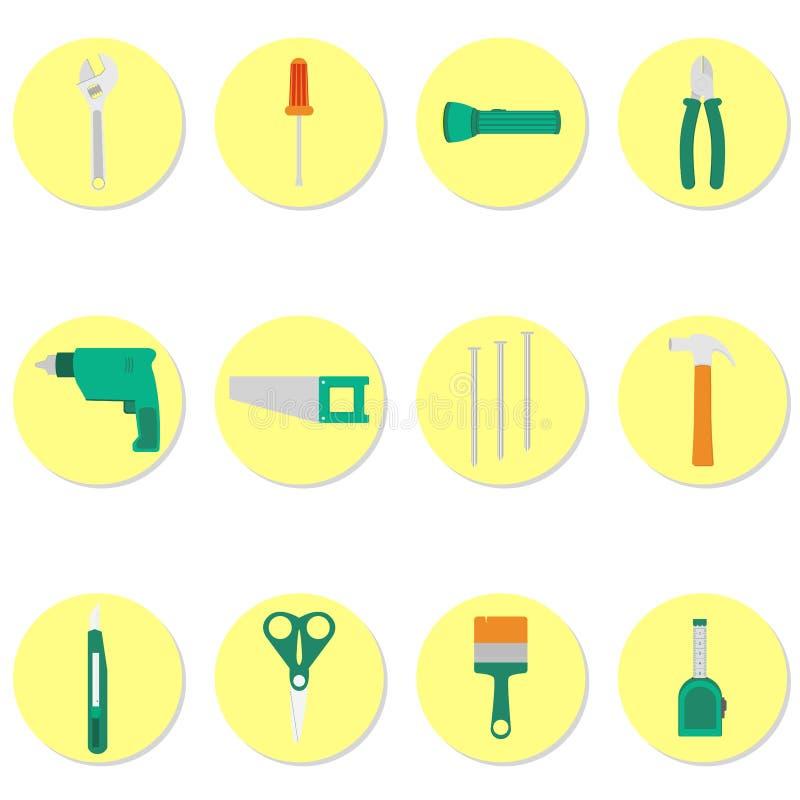 Kreisikonen von Werkzeugen vektor abbildung