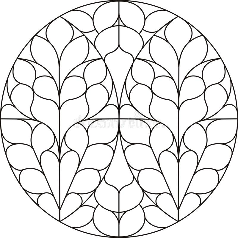 Kreiskathedralefenster stock abbildung