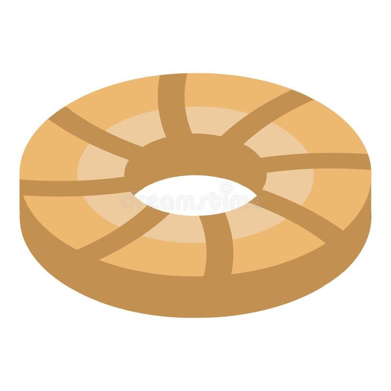 Kreiskeksikone, isometrische Art vektor abbildung