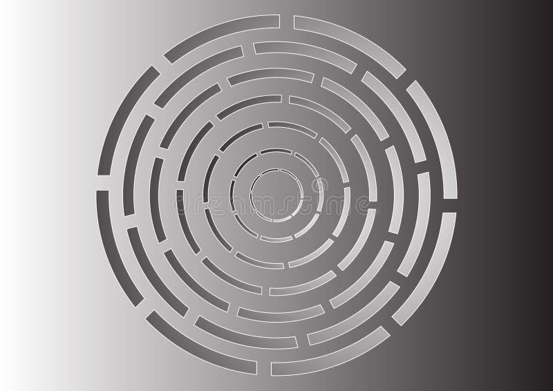 Kreislabyrinth vektor abbildung