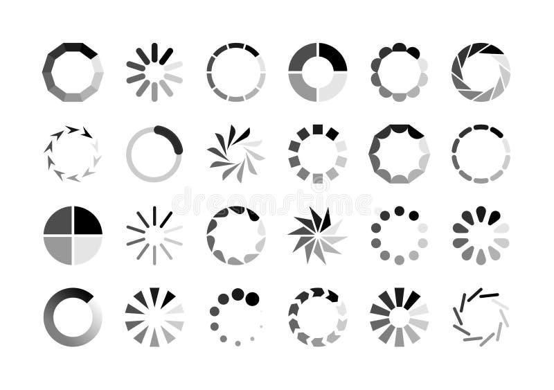 Kreislader Preloaderwebsiteschablonenschnittstellend?mpfungswartegif-Antriebskraftdownload Kreis der Wartezeitlast spinnendes stock abbildung