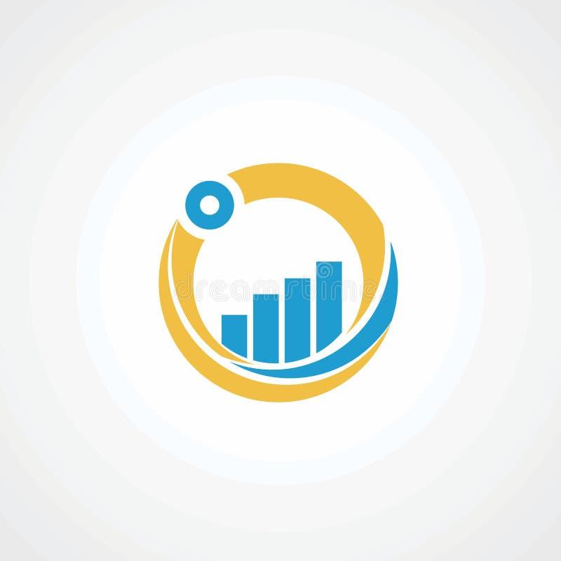 Kreismarkt mit blauem Grafiklogovektor, -ikone, -element und -schablone für Firma lizenzfreie abbildung