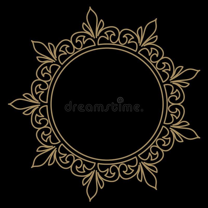 Kreismuster in der Arabeskenart mandala Rundes Blumenfeld vektor abbildung
