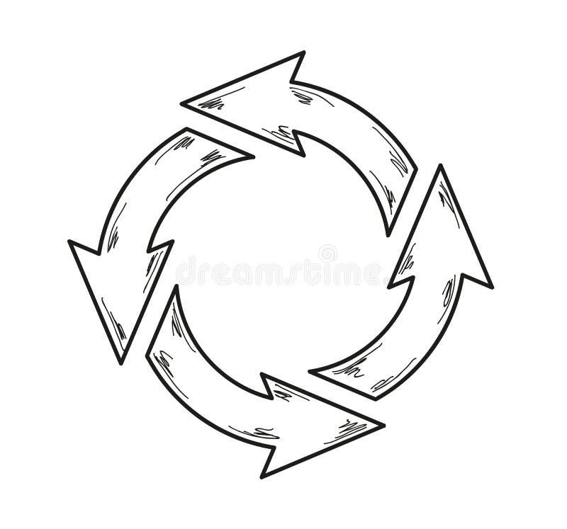 Kreispfeile vektor abbildung
