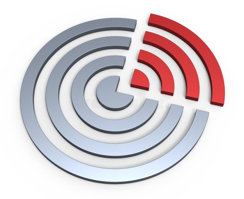 Download Kreissektorkonzept stock abbildung. Illustration von richtung - 26374394