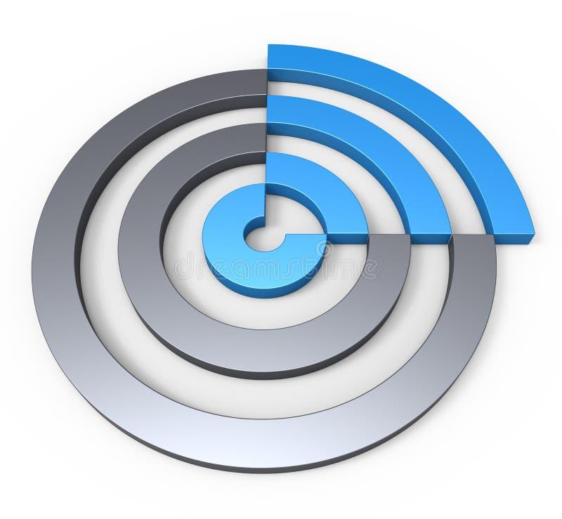 Download Kreissektorkonzept stock abbildung. Illustration von abbildung - 26374404