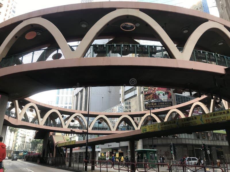 Kreissteg in der Damm-Bucht, Hong Kong lizenzfreies stockfoto