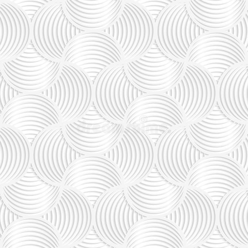 Kreisstift der dünnen Streifen des Weißbuches 3D wird es tun kleiner stock abbildung
