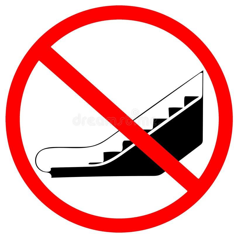 Kreisstraßen-Mitteilungszeichen der Mai-Gebrauchsrolltreppe nicht erlaubtes rotes lizenzfreie abbildung