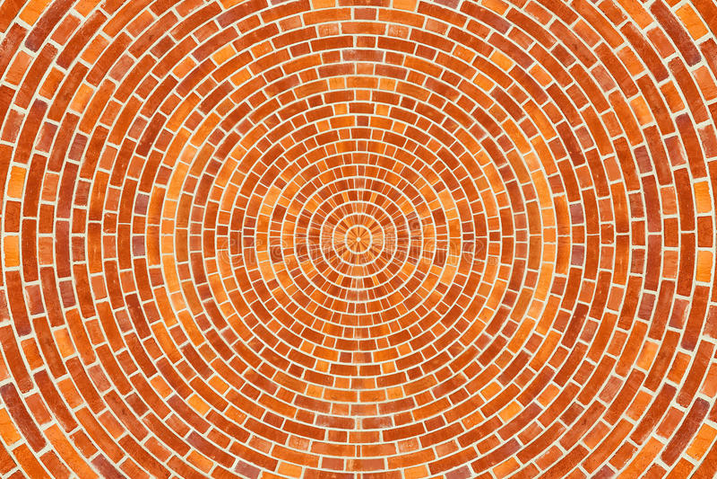 Kreisziegelstein-Muster stockfoto