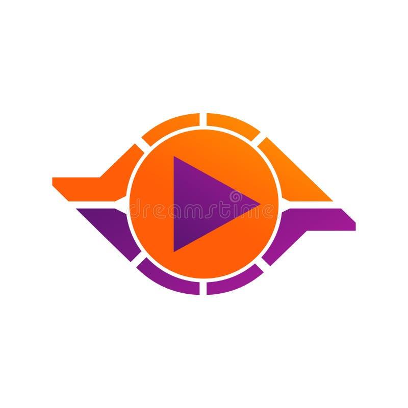 Kreiszusammenfassungsunendlichkeitsschleifenvektorlogo-Entwurfsschablone Spielikonenkonzept Unbegrenztes geschlungenes Firmenzeic vektor abbildung