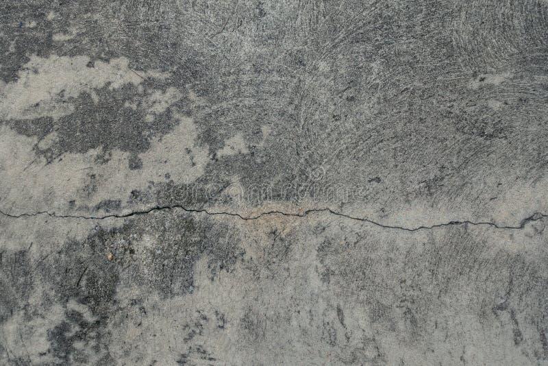 Krekingowy cementowy podłogowy tekstury tło fotografia stock