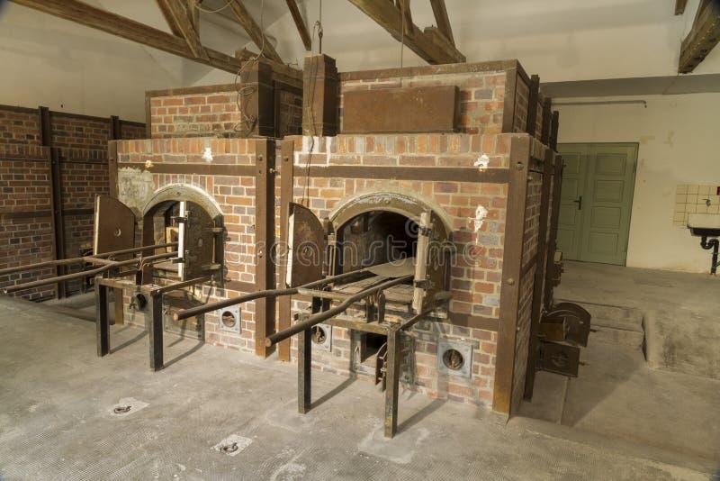 Kremacja piekarniki dzisiaj Koncentracyjny Dachau obóz obraz stock
