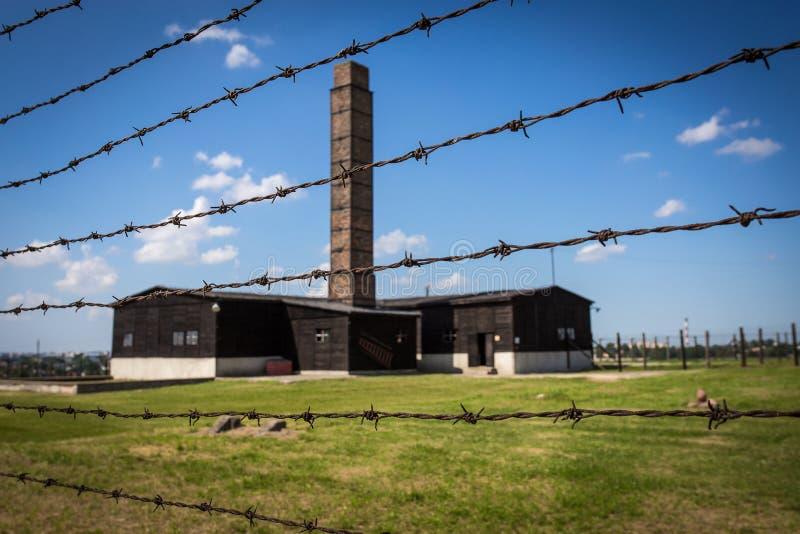 Krematorium in Majdanek lizenzfreie stockfotos