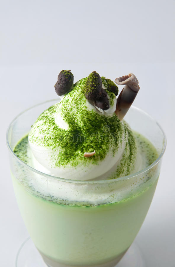 Kremeis des grünen Tees lizenzfreie stockfotos