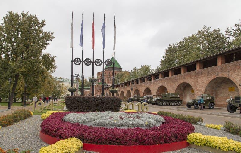 Kreml i Nizhny Novgorod, ryssfederation arkivbild
