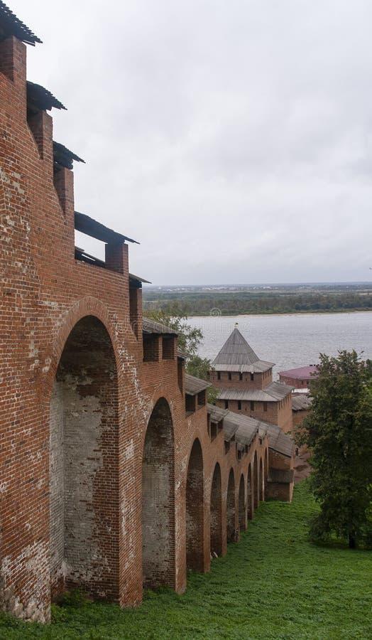 Kreml i Nizhny Novgorod, ryssfederation arkivfoto
