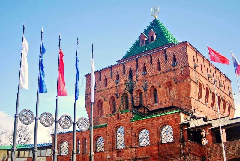 Kreml i Nizhny Novgorod, Ryssland royaltyfri fotografi