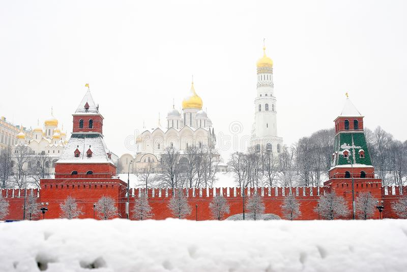 kreml Moscow Rosyjska zima obrazy royalty free