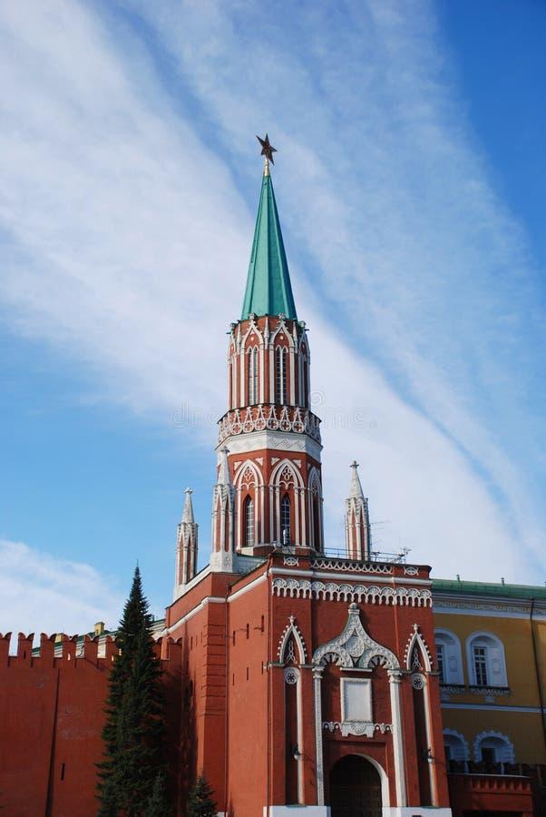 kreml Moscow wieże zdjęcia royalty free